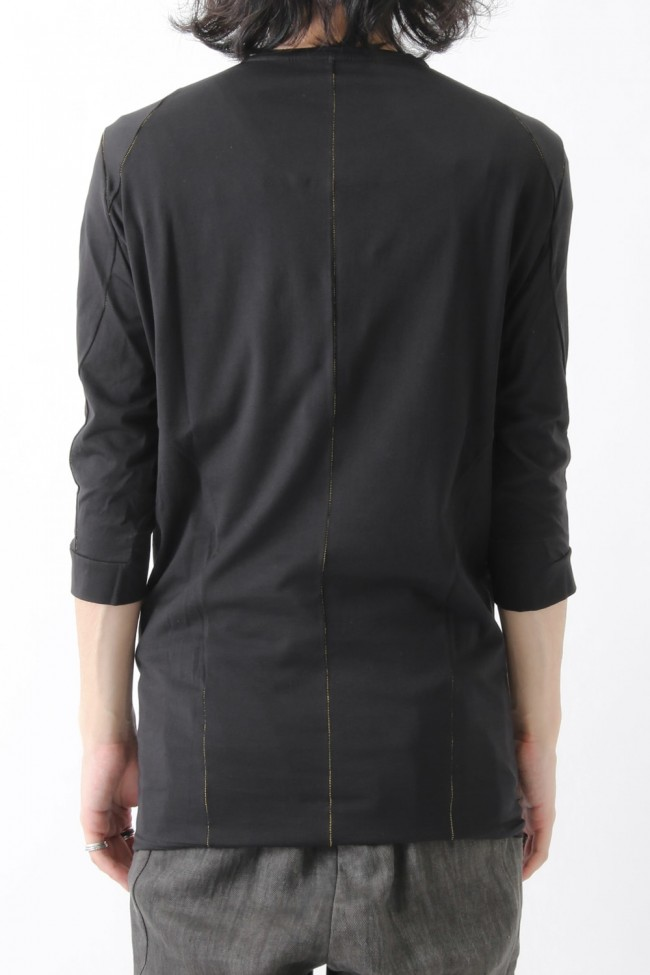 Three-quarter Sleeve Cut Sew 80/2 Cotton Jersey