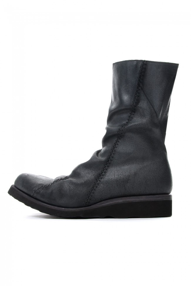 fw gvr long boots reverse calf leather guidi devoa デヴォア