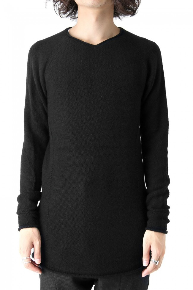DEVOA Knit Long Sleeve Cashmere-001