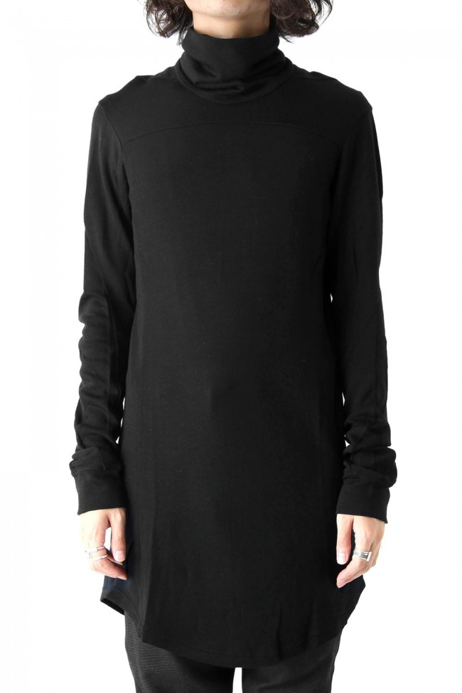 Devoa High Neck Long Sleeve Wool & Rayon-001