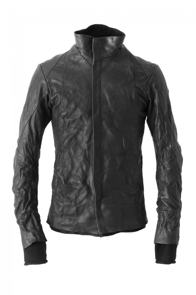 DEVOA High Neck Jacket Guidi Horse Leather-001