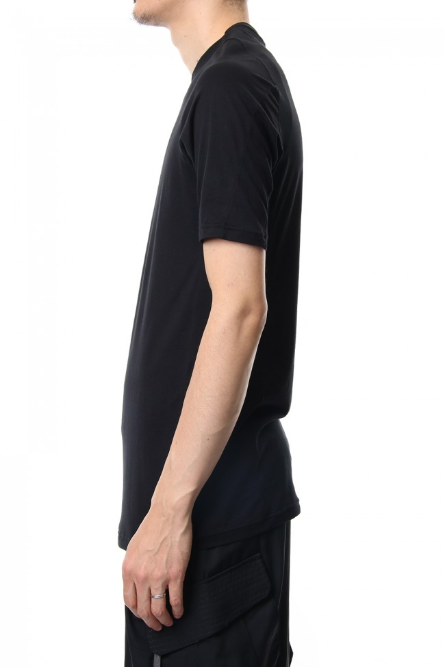 Short sleeve Indian cotton jersey ( SUVIN ) - Black