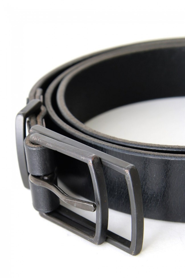 iolom Double Buckle Leather Belt
