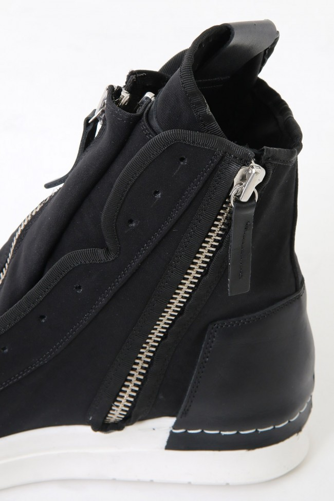 17SS NYCER W Front Zip Sneakers  BLACK