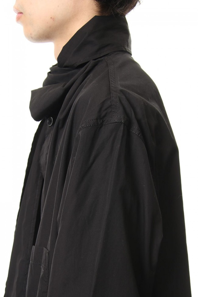 Ring Sewing Broad Scarf Coat