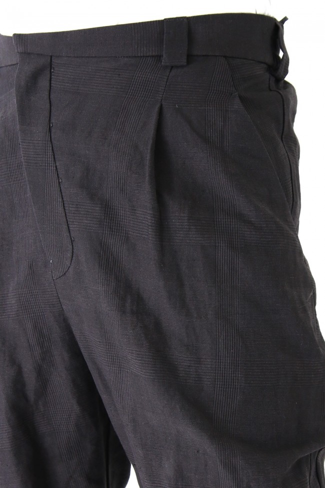 Jodhpurs Pants Cotton Linen Check