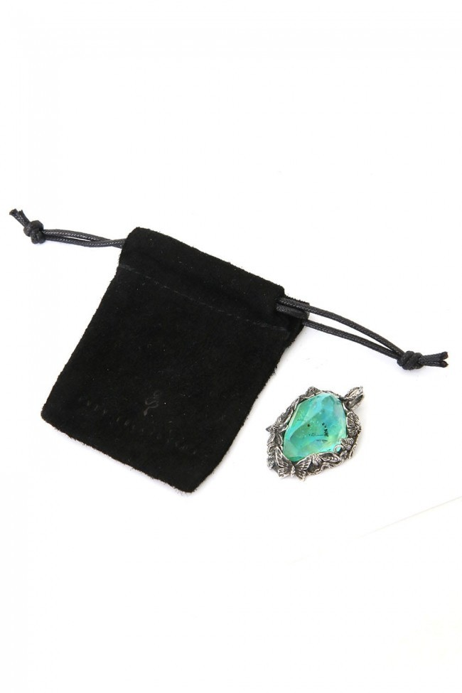the WINTER male / Necklace Charm AQUA BLUE