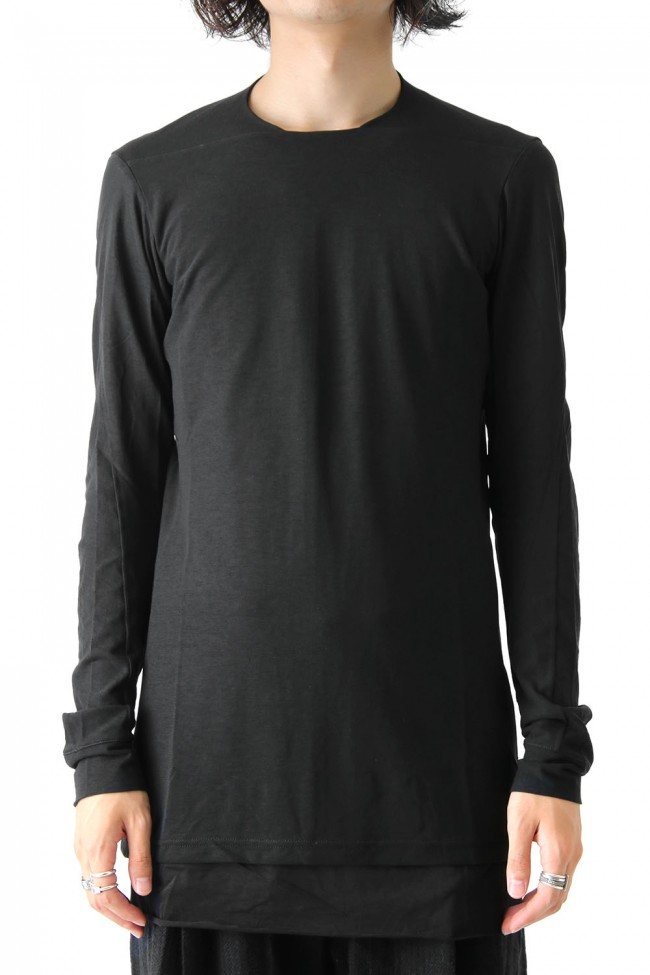 DEVOA Long Sleeve S/Z Twist Cotton - Black