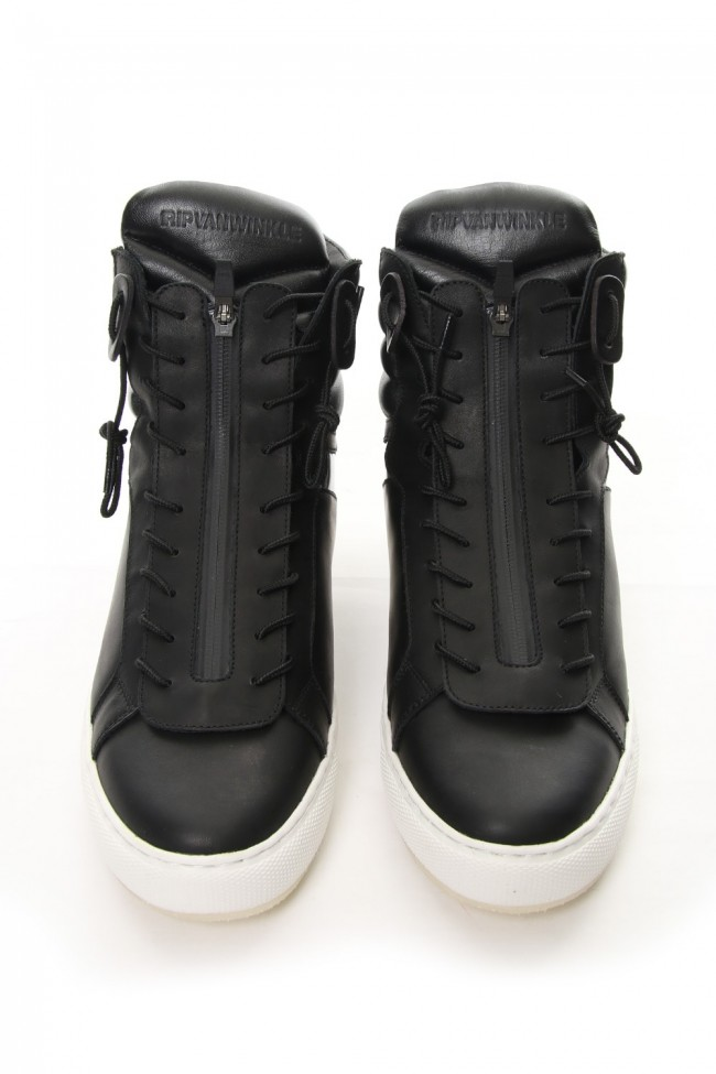 FRONT ZIP HIGH CUT SNEAKERS RB-005