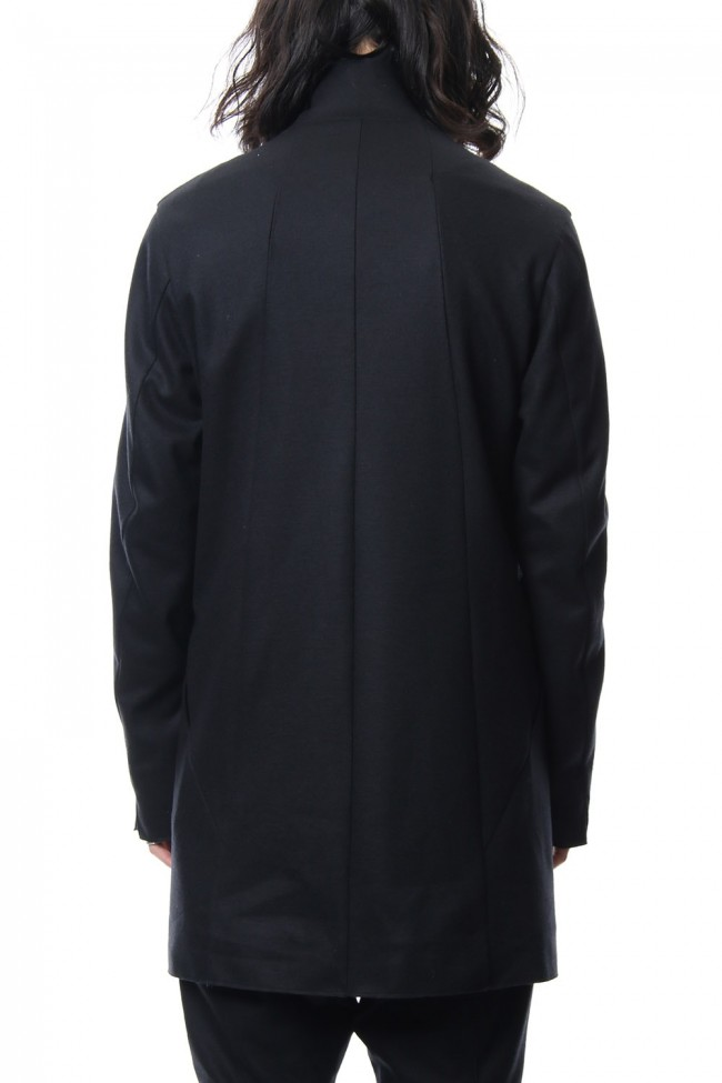 Super 100's wool smooth tailor long Cardigan