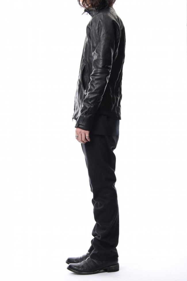 High Neck Leather Jacket
