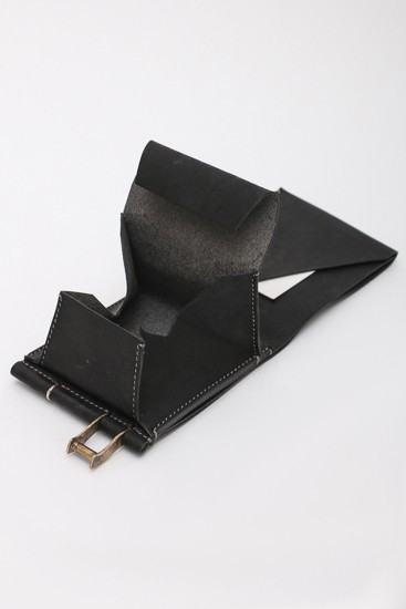 Cow Leather Wallet Black