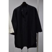 17SS 3/4 Sleeve fish tail pullover-BLACK-1