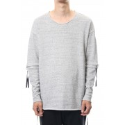 Removable Sleeves Pullover  - snowgray-Snow Gray-FREE