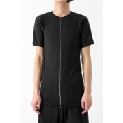 "17SS ""FLAW"" deconstructed raw edge short sleeve cut&sewn -BLACK-M"