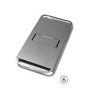 iPhone6 Case FLAP - STRAIGHT VIBRATION-Silver-Free