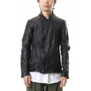 LEATHER RIDERS JACKET - CVJ-0002-Black-1