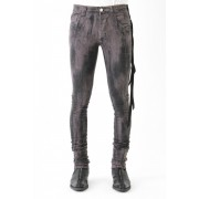 17SS 12oz Grey distressed coat with seaming cut denim-GRAY-1(26inch)