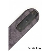 Cow Leather Belt-Purple Gray-3