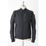 Ramie Flight Jacket-Black-1