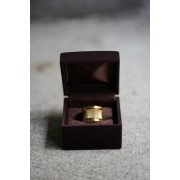 16SS PERMANENT LINE SURGICALSTAINLESS RING Q001-GOLD-17