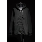 16AW Zippered Hooded sweatshirt-BLACK-1
