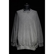 16W Pigment dyed loose pullover-BLACK-FREE