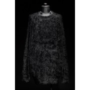 16AW SHAGGY LOOSE SIHOUETTE PULLOVER KNIT BLACK-BLACK-1