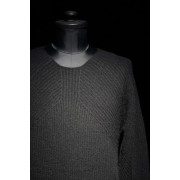 16AW RIBED KNIT PULLOVER BLACK-BLACK-1
