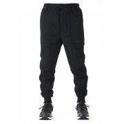 RIBBED PANELLED TRACK PANT-Black-44