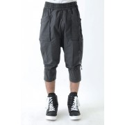 17SS Garment dyed cargo pants-BLACK-1