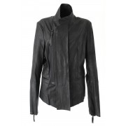 Goat Kid Ultra Light Leather Jacket - L01-J01-Black-2