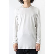 Long Sleeve Egyptian Cotton Jersey (GIZA)-White Gray-1