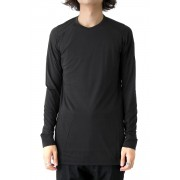 Long Sleeve Egyptian Cotton Jersey (GIZA)-Black-1