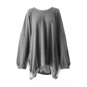 Sweater Big Pullover - AL-1397-Gray-2