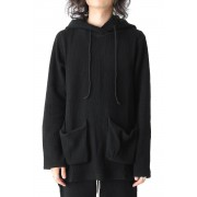 Pull-over Hooded Top-Black-1