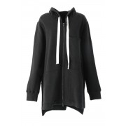 Sweater Big Hoodie - AL-1163-Black-Free