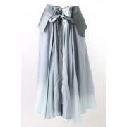 Shuttle Silk Cotton Gradation Skirt - DK11-05-S04-Mint Gradation-1