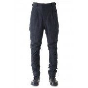 Jodhpurs Pants Cotton Linen Check-Blue Black-1