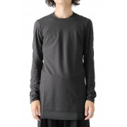 Long Sleeve S/Z Twist Cotton-Charcoal-1