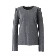Linen knit Jacquard T-shirt - 13-T04-Grey-2