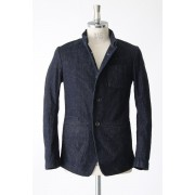 Light Ounce Denim Mao Collar Jacket -Indigo-0