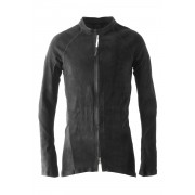 Stretch Leather Shirt - ARPENTEUR OV-Black-S