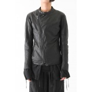 17SS LAYERED LEATHER JACKET -BLACK-M