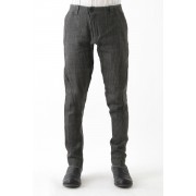 Slim Pants Linen Denim Charcoal Dyed-Charcoal-1