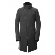C / N Dump High Neck White Goose Down Coat-Charcoal-1