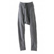 Linen knit Jacquard Pants - 13-P06-Gray-2