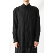 Triple Layer Collar Shirt-Black-2