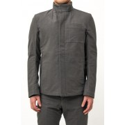 Zip Up Jacket Cotton Boil Weather-Cha-Charcoal-0