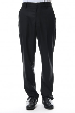 FACTOTUM 18-19AW TR STRETCH SLACKS-black